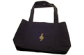 G-Clef Shopping Tote Black