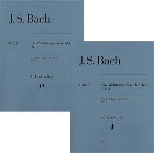 2 Henle Book Set: The Well-Tempered Clavier Part 1 and 2 (Das Wohltemperierte Klavier Part I and II)