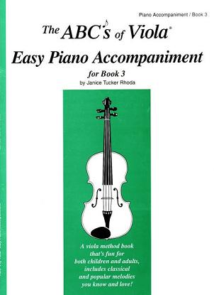 ABC'S of Viola Piano Accompaniment for Book 3