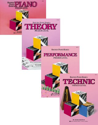 Bastien Piano Basics, Primer Level Set (4 Book Set - Piano, Theory Performance, Technic)