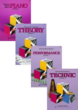 Bastien Piano Basics, Level 1 Set (4 Book Set - Piano, Theory Performance, Technic)