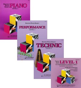 Bastien Piano Basics, Level 1 Set (3 Book, 1CD - Piano, Performance, Technic, Accompinament CD)