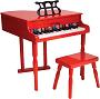 Baby Grand Piano: Red
