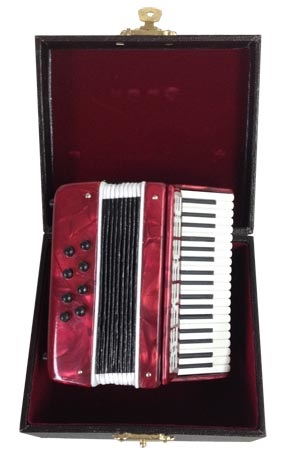 Miniature Red Accordion