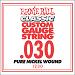 Ernie Ball Guitar Strings: Classic Pure Nickel Six-Pack -30 1230