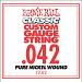 Ernie Ball Guitar Strings: Classic Pure Nickel Six-Pack -42 1242