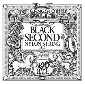 Ernie Ball  Black 2nd Nylon Classical 6 pack 1512