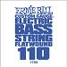 Ernie Ball Guitar String: Flatwound Electric Bass- 110 1799