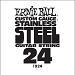 Ernie Ball Guitar Strings: .024 Stainless Steel 6 pack 1924