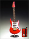 Miniature 7 in. Red Electric Guitar Music Box - I Want To Hold Your Hand