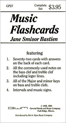 Bastien Music Flash Cards