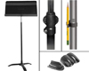 Manhasset Music Stand, Floor Protectors, Shaft Lock, and Pencil Holder Set