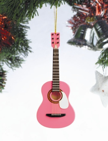 Pink Acoustic Guitar Ornament