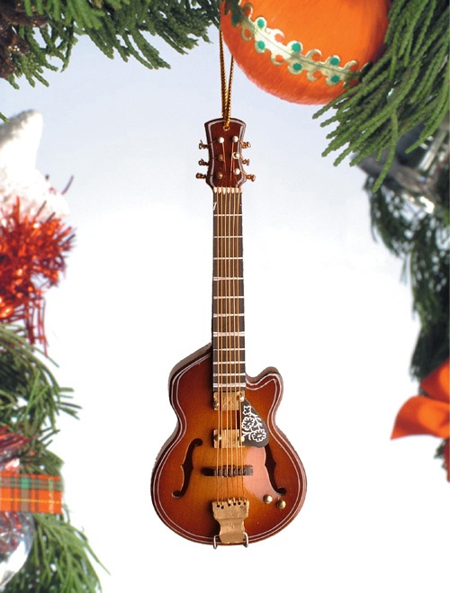 Hollow Body Guitar w/Cutaway Ornament