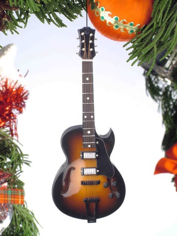 Hollow Body Electric Guitar w/Cutaway Ornament