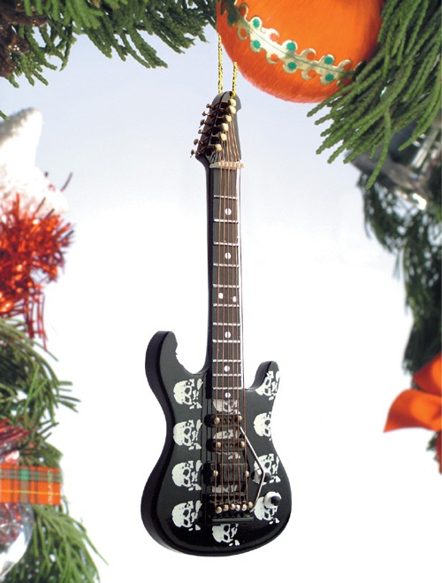 Skull Design Electric Guitar  Ornament