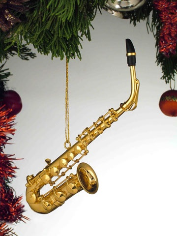 Gold Brass Alto Saxophone Ornament