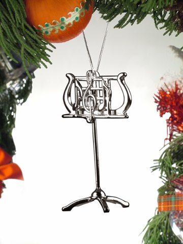 Silver Music Stand Ornament
