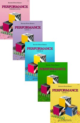 Bastien Piano Basics Set of 5 Performance Books (Primer - Level 4)