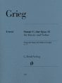 Edvard Grieg: Violin Sonata G Major Op. 13 Violin and Piano