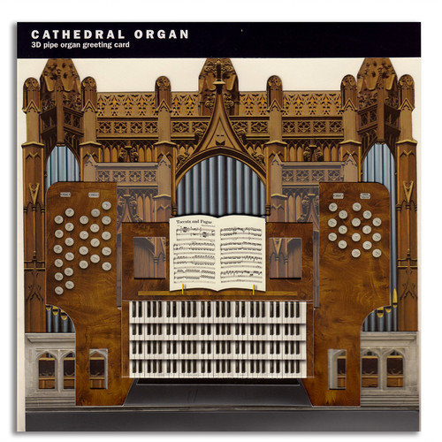 3-D Greeting Card - Cathedral Organ