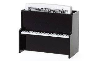 Black Upright Piano Desk Caddy
