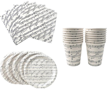 Sheet Music Paper Party Set